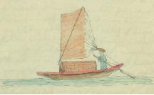 Boat drawn by Thomas