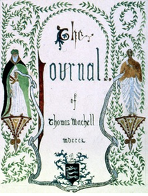 Front page of Thomas Machell's diary