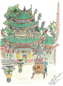 Jenny's sketch of a Chinese building