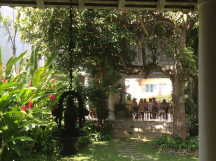 Authors' lunch in the home of hostess Judy Green, in Galle Fort.
