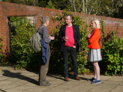 Poet James Turner with Dr Andy Brown and Dr Corinna Wagner
