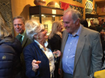 Richard Blurton and Susan Harbour-Robertson with Peter Harrigan